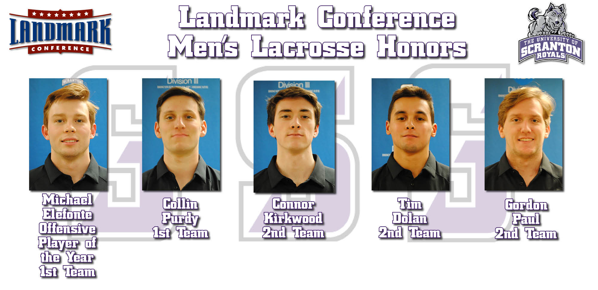 Men's Lacrosse Claims Six Year-End Landmark Conference Awards Highlighted by Offensive Player of the Year Honors for Elefonte