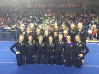 UB Gymnastics Places Second in Quad Meet At Penn