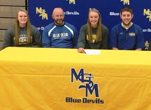 Kylie Sherwood of Martensdale-St, Marys recently signed a national letter of intent to play softball at NIACC.