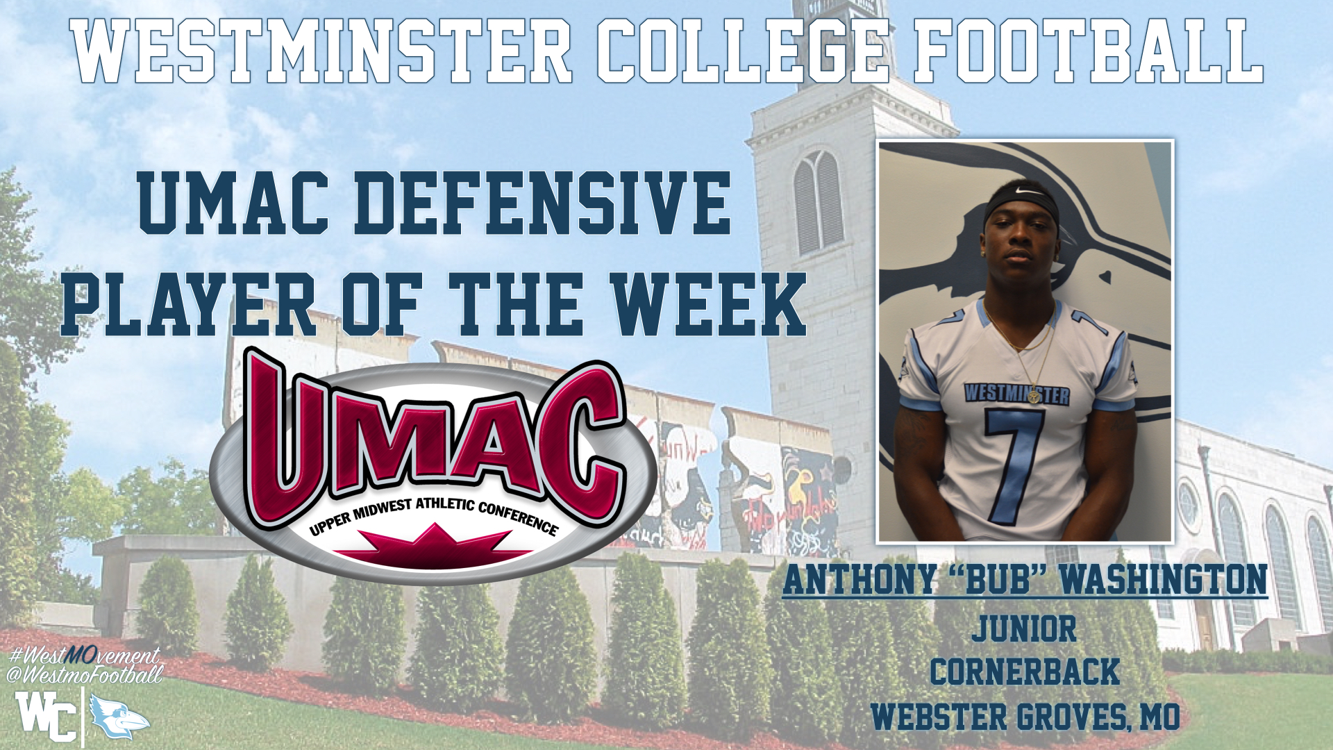 Washington Named UMAC Defensive Player of the Week