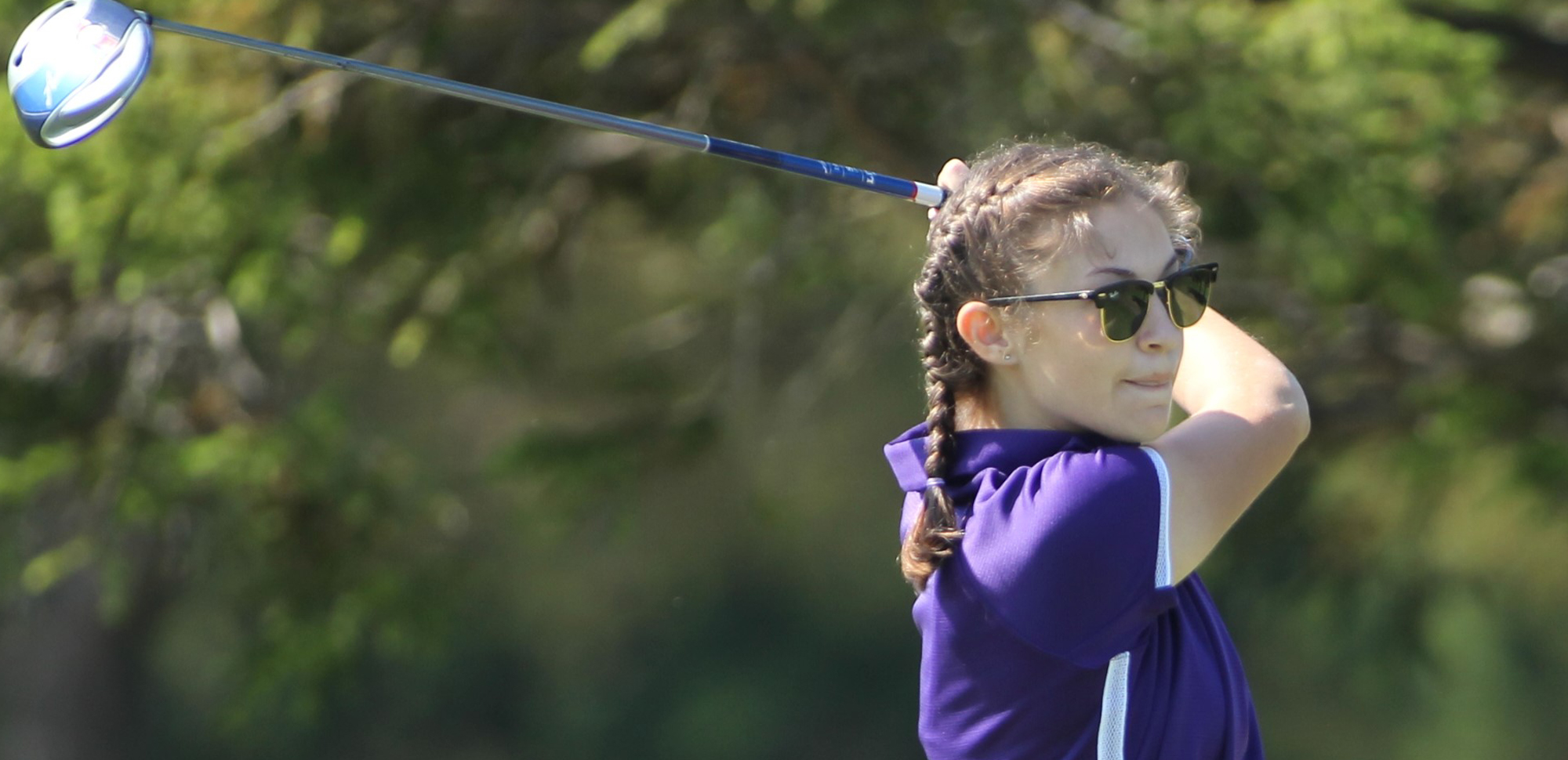 Sophomore Emma Nemitz finished in a tie for third on Tuesday at the Drew Invitational, posting the lowest score on the day for the Royals. © Photo by Timothy R. Dougherty / doubleeaglephotography.com