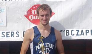 PSUD's Pensak runs well in cold, wet conditions at Fayette Invitational
