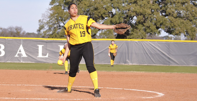 Softball sweeps day one, day two cancelled