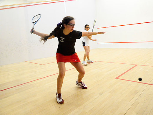 Women's squash outlasts Bucknell on Senior Day