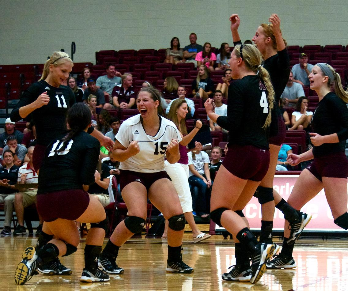 Scots Volleyball defeats visiting Kalamazoo College in the 2012 MIAA Opener