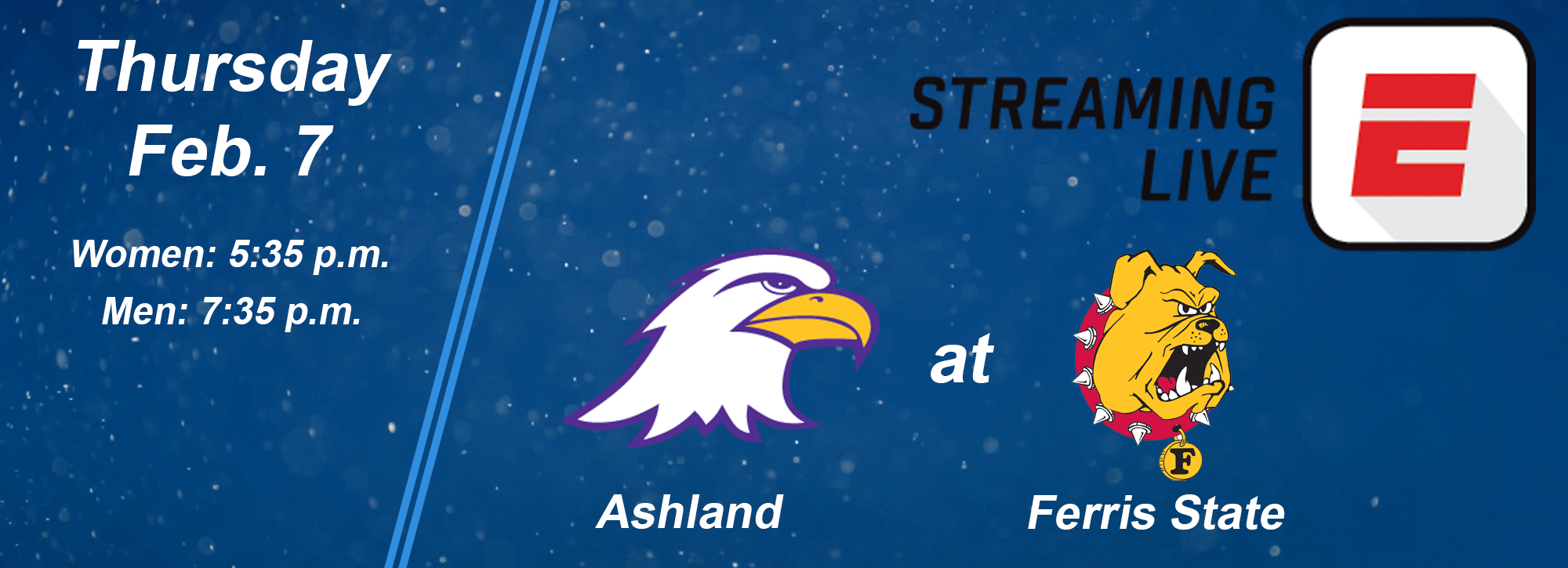 NCAA DII basketball Showcase includes Thursday's Ashland at Ferris contests