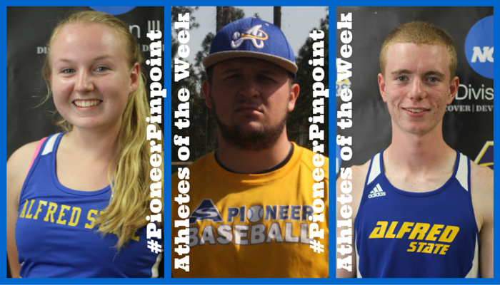 Byrnes, Hanss, and Sass, Named #PioneerPinpoint Athletes of the Week