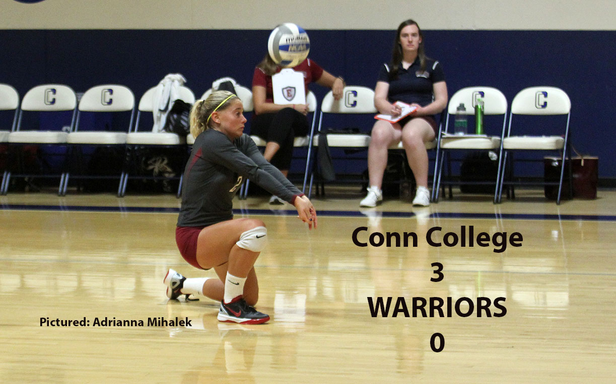 Women's Volleyball: Warriors Can't Get Untracked in Three-Set Loss to Conn College