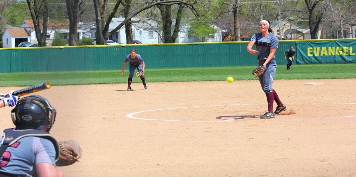 Softball splits at Oklahoma Wesleyan