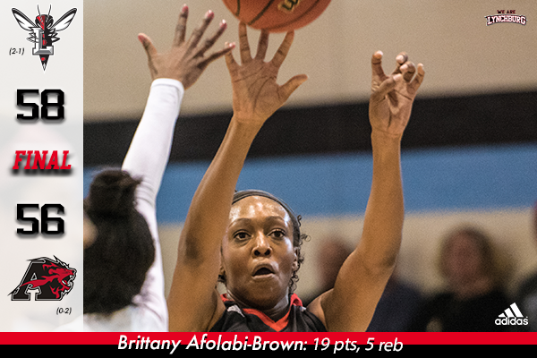 Brittany Afolabi-Brown shoots the basketball.