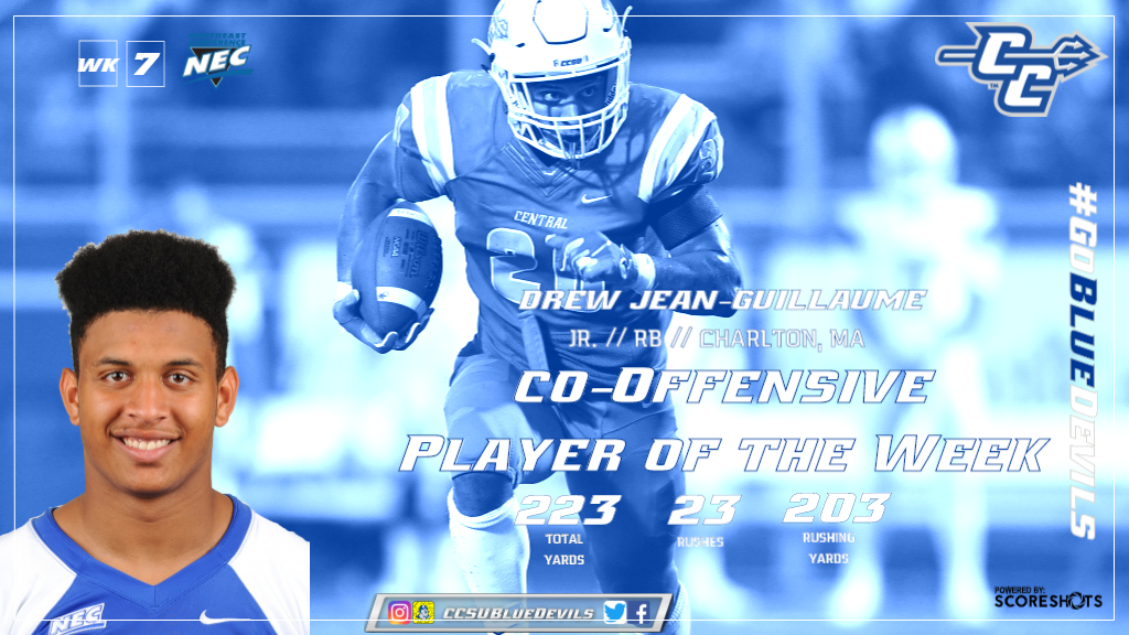 Jean-Guillaume Named Northeast Conference Co-Offensive Player of the Week
