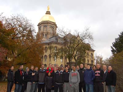 CUA tours tradition-rich Notre Dame; prepares to meet Irish