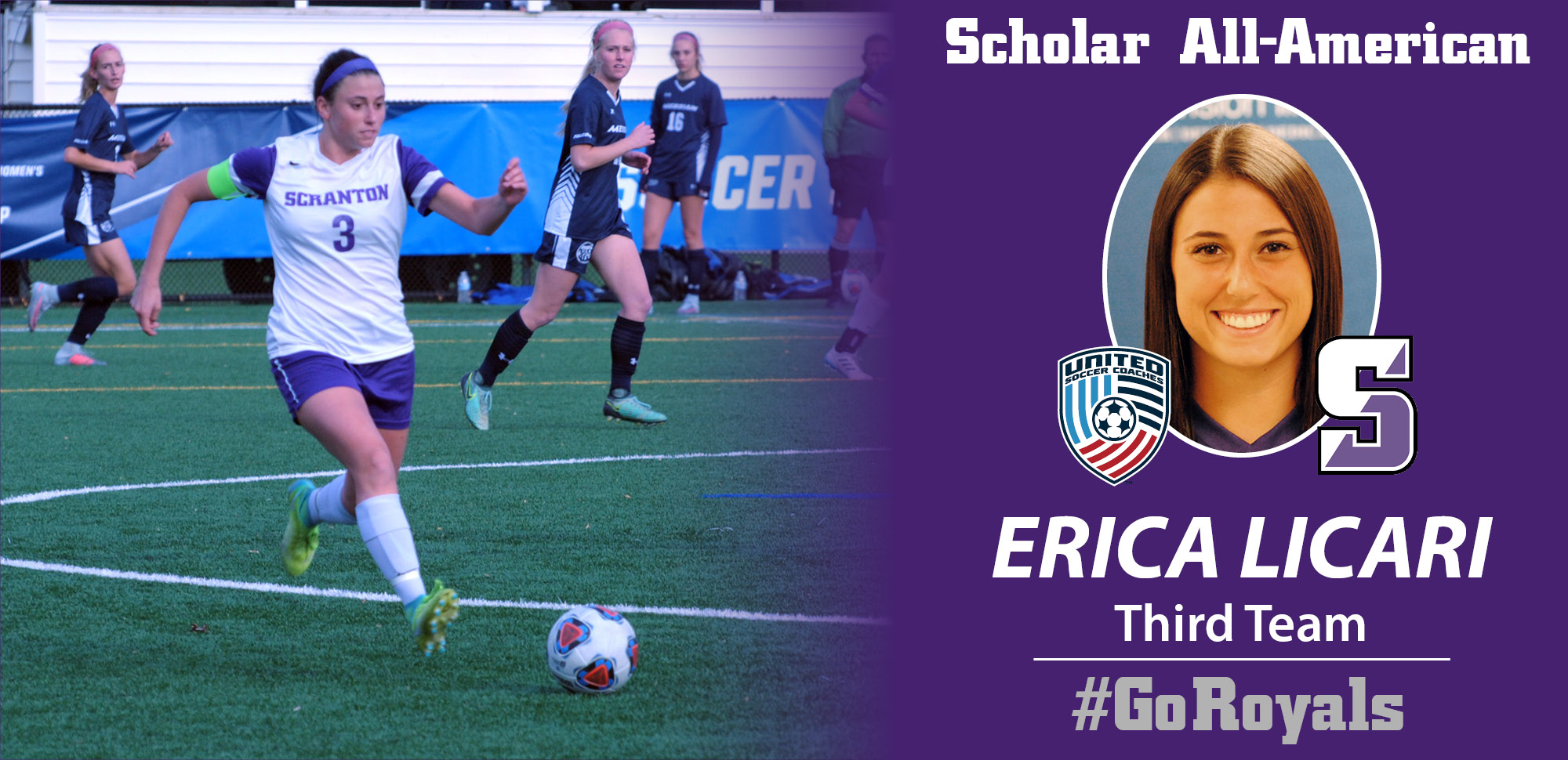 Licari Named Third-Team Scholar All-American By United Soccer Coaches