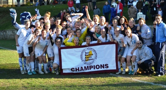 Lasell Women's Soccer Captures Third Straight GNAC Title with 2-0 Defeat of Simmons