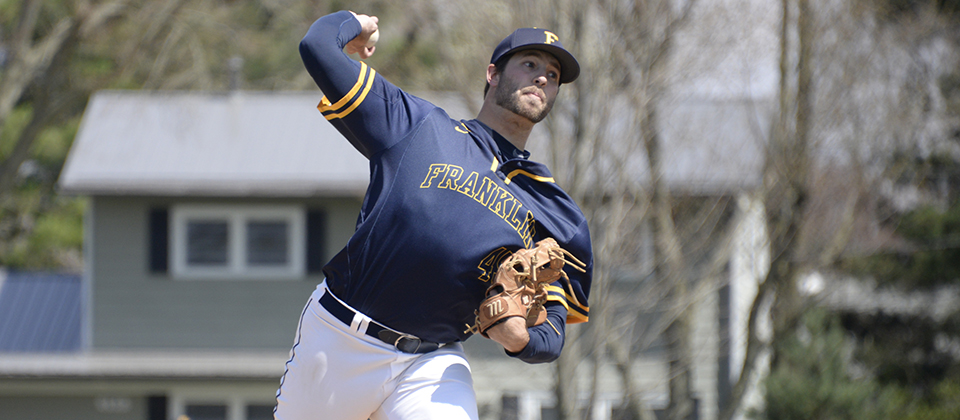 Nate Stonebraker worked five scoreless innings in relief, helping Franklin secure the sweep