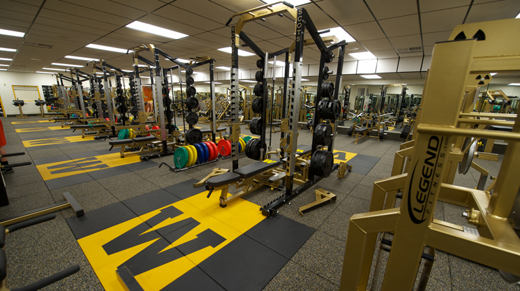 The newly renovated John M. Swigart fitness center.