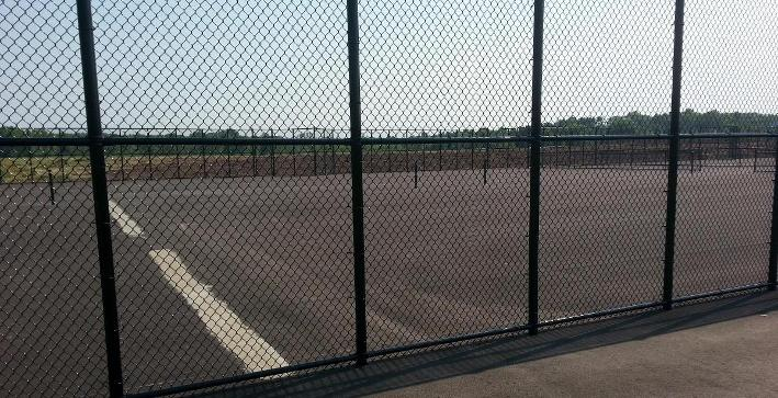 Tennis courts construction project nearing completion