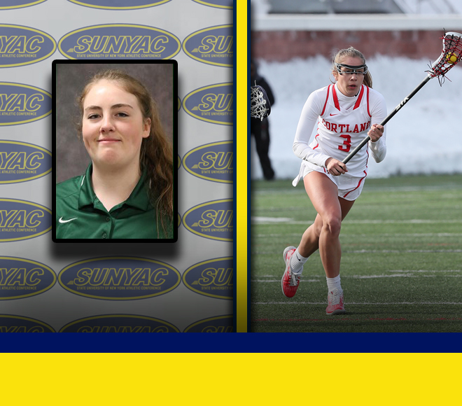 Brown and Meager named Women's Lacrosse Athletes of the Week