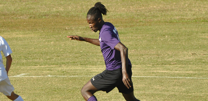 Spence Jean Baptiste helped the Eagles to a 3-0 win over Louisiana College Saturday.