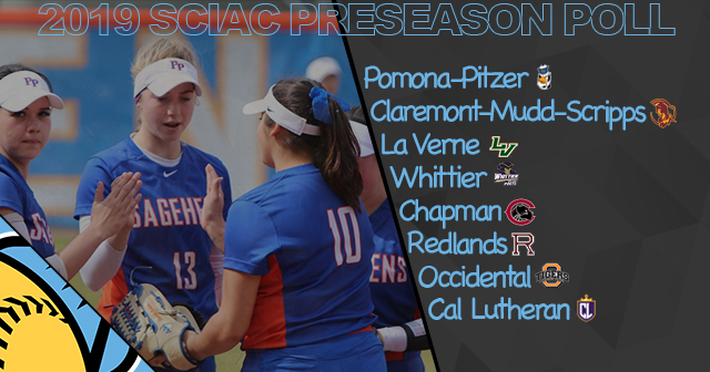 Pomona-Pitzer Slotted First in SCIAC Softball Preseason Poll