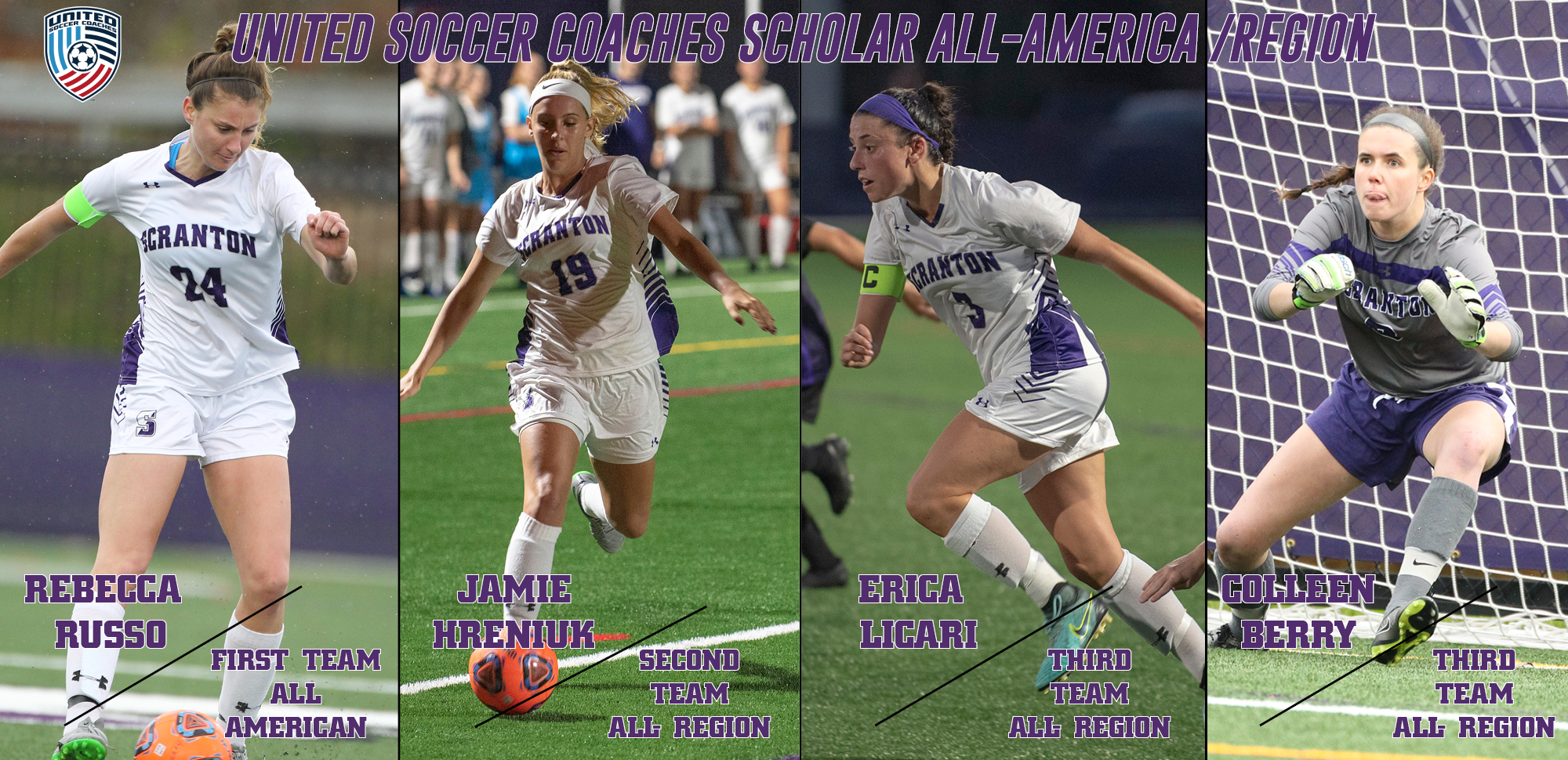 Russo Named United Soccer Coaches Scholar All-American; Four Named to Scholar All-Region Teams
