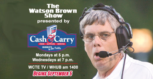 Tonight: First Watson Brown Show airs at 5 p.m.; Call, email or tweet questions