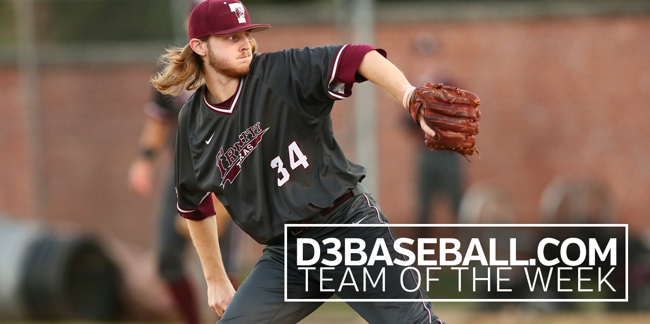 Trinity's Griffin Named to D3Baseball.com Team of the Week