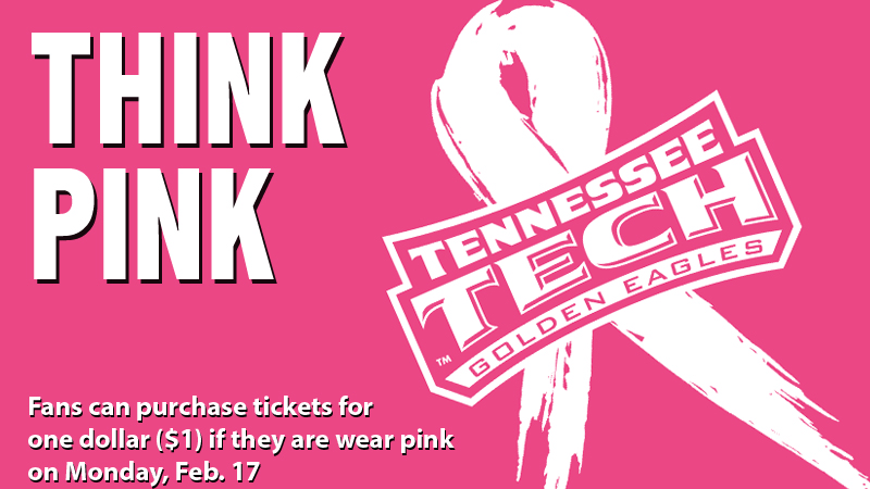Think Pink promotion set for women's basketball game Monday, Feb. 17