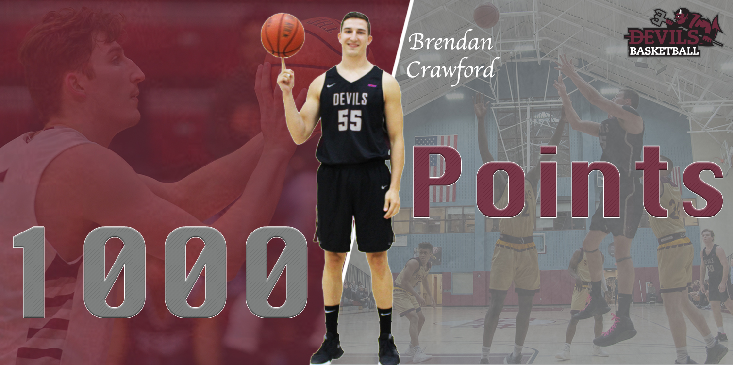 White's Block at Buzzer Secures Men's Basketball's Season Sweep of Goldey-Beacom, 83-82; Crawford Reaches 1000 Points
