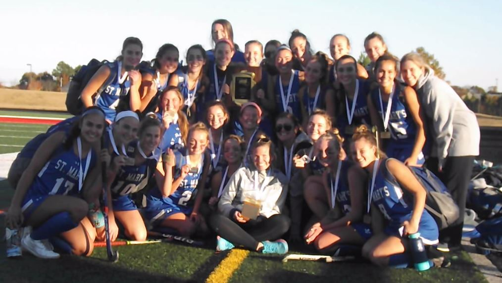 "It took double-overtime but the St. Mary's Saints gets it done to capture  the ""B"" Conference Field Hockey title"
