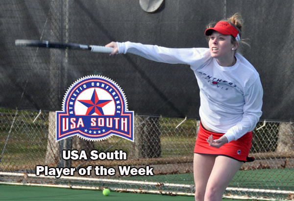 Women's Tennis: Brashier earns USA South Player of the Week award
