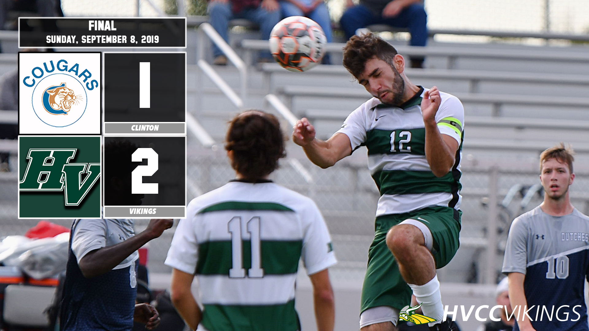 Men's soccer defeats Clinton 2-1 (Action photo)