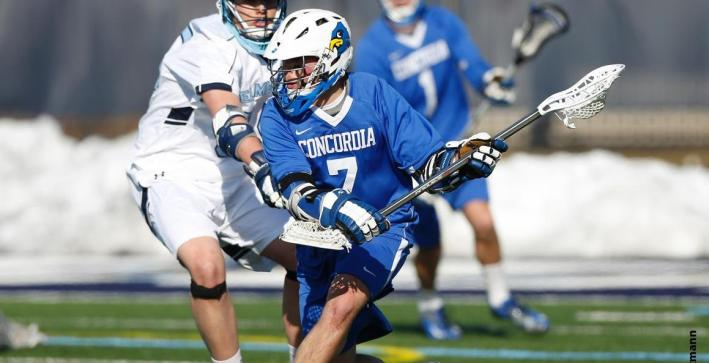 Men's Lacrosse defeats Hanover in record-breaking fashion