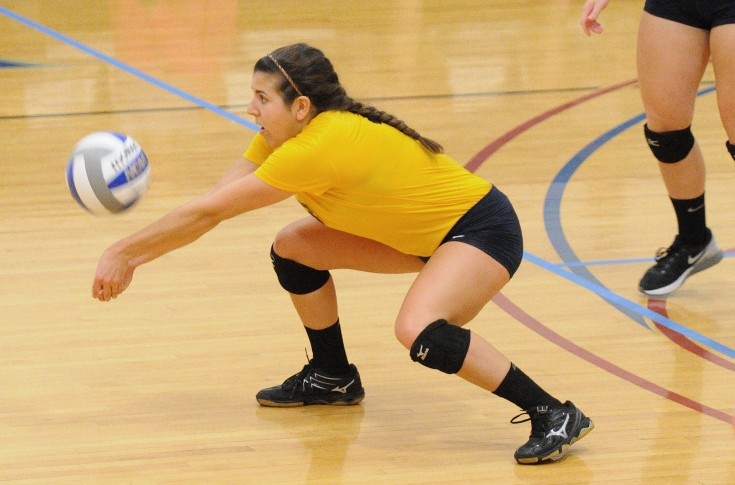 Women's Volleyball: Trevino's 21 digs leads Raiders past Anna Maria