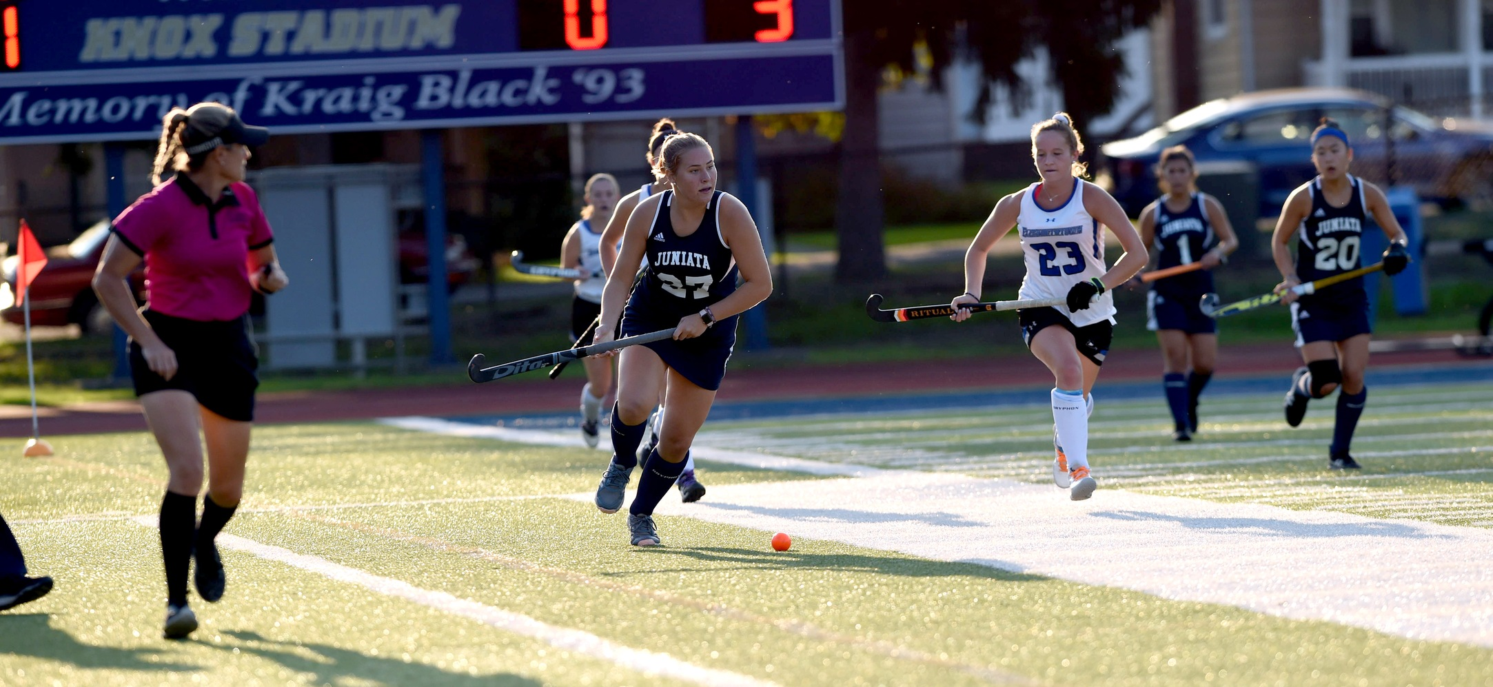 Freshman, Catherine Zvorsky tallied her first career goal in Juniata's 4-0 win over Drew.