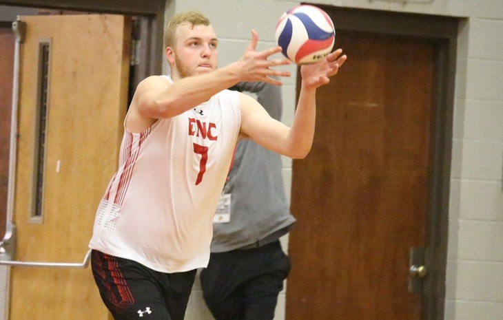 Men's Volleyball Prevails at Colby-Sawyer, 3-1