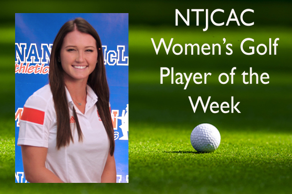 NTJCAC Women's Golf Player of the Week (Oct. 19-25)