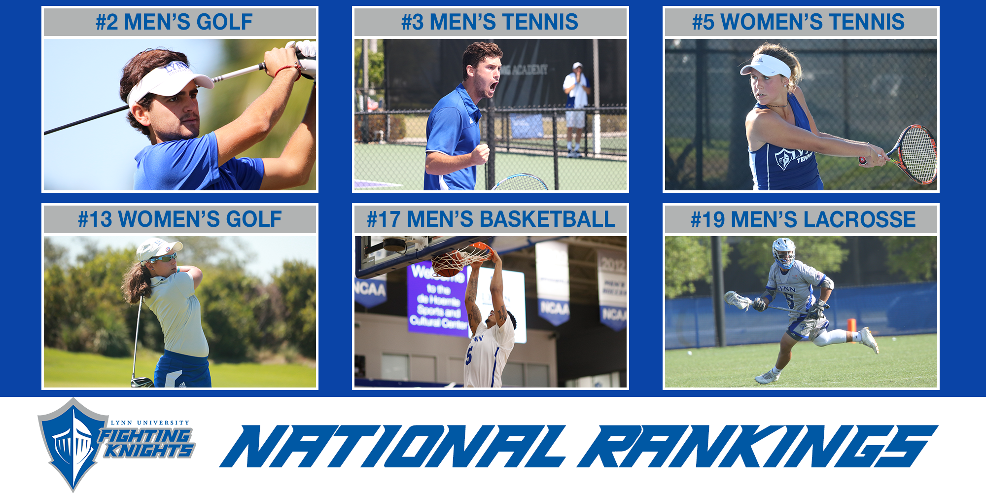 Lynn Athletics Shows Strength with Six Top-20 Programs