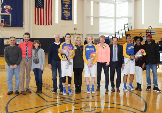 SAINTS SOAR PAST FALCONS ON SENIOR DAY, 85-56