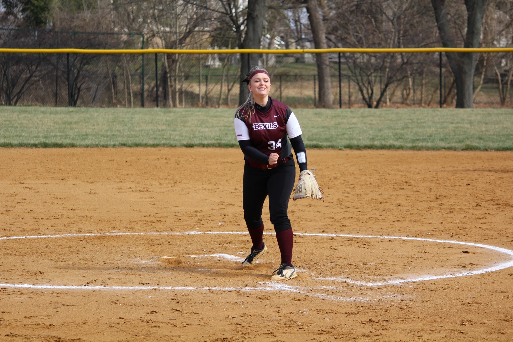 Softball Walks-Off in Ninth Inning For Doubleheader Split with Dominican in CACC Opener