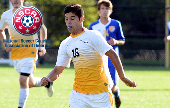Sophomore Emmett Basaca was named Third Team All-New England by the National Soccer Coaches' Association of America
