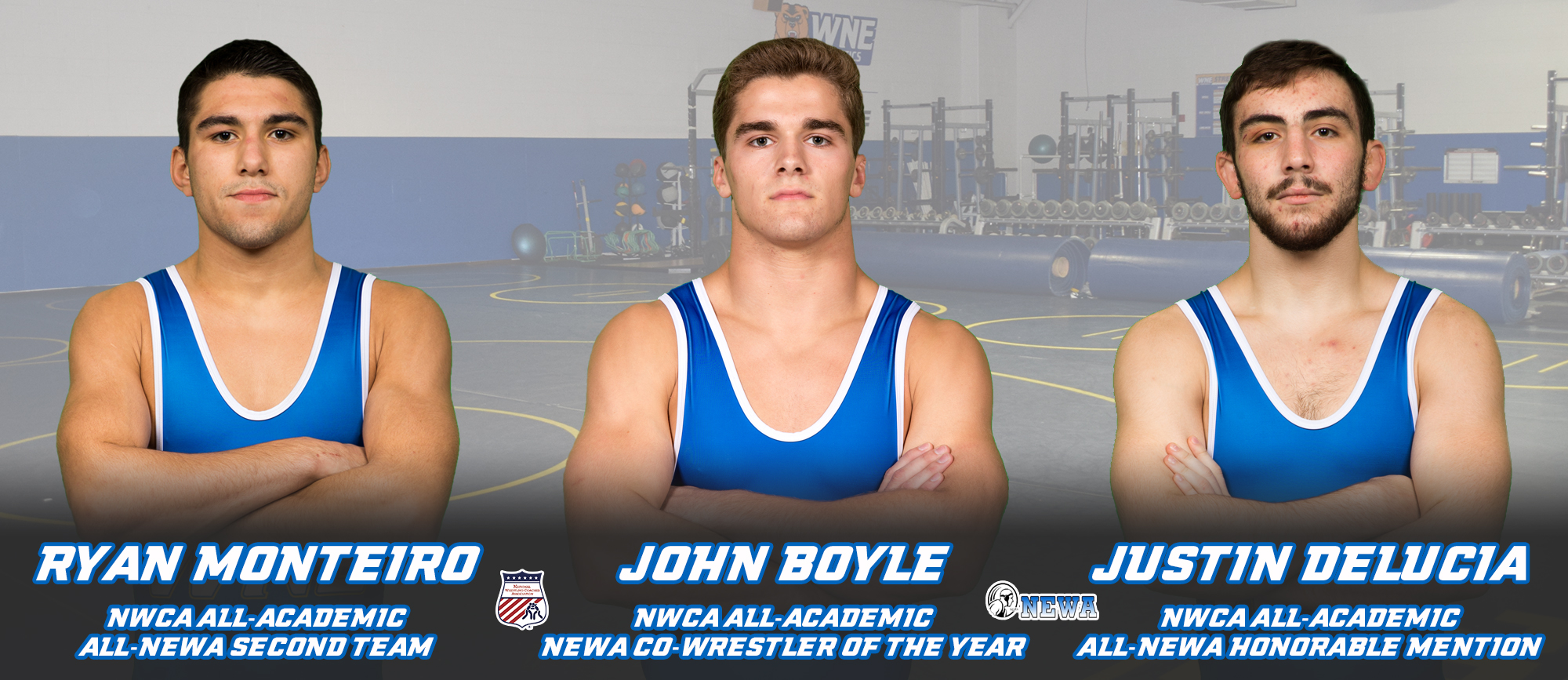 Boyle, Monteiro & DeLucia Among Eight Golden Bears Honored by NWCA & NEWA