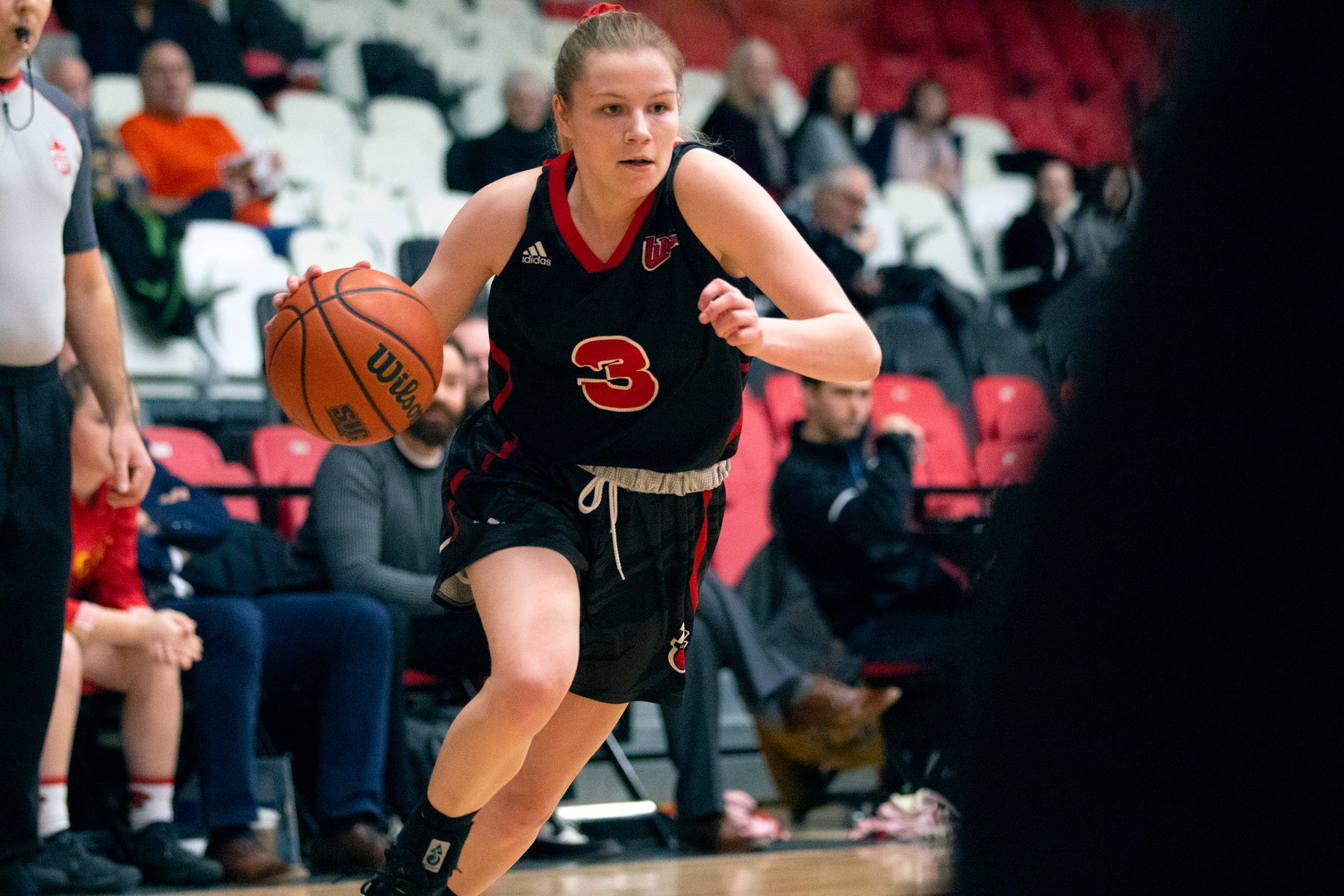 Anna Kernaghan had 18 points Saturday night in a loss to the UBC Thunderbirds. (David Larkins/Wesmen Athletics file)