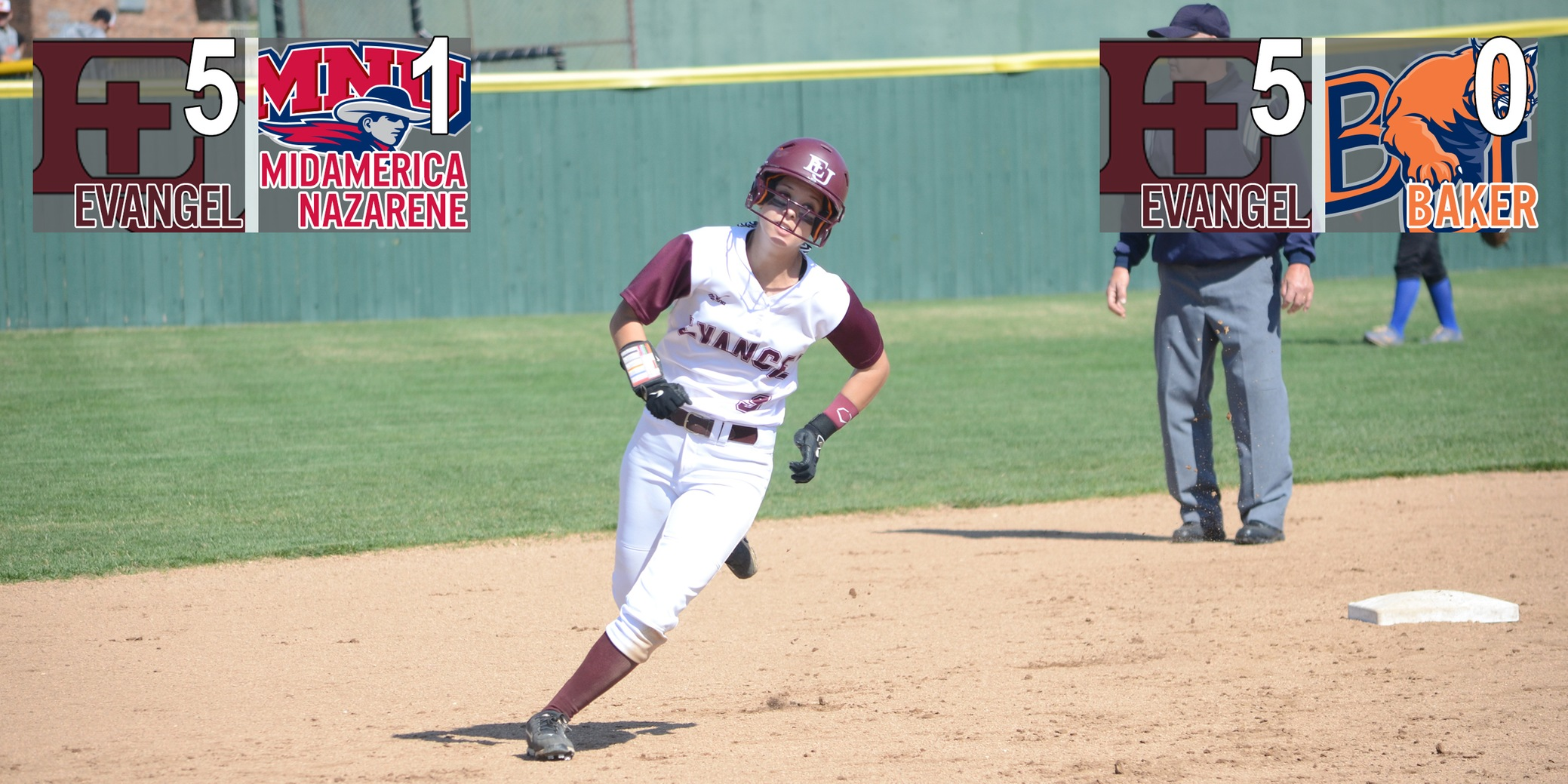 Defense and Pitching Lead Evangel to Pair of Wins at Heart Softball Tournament