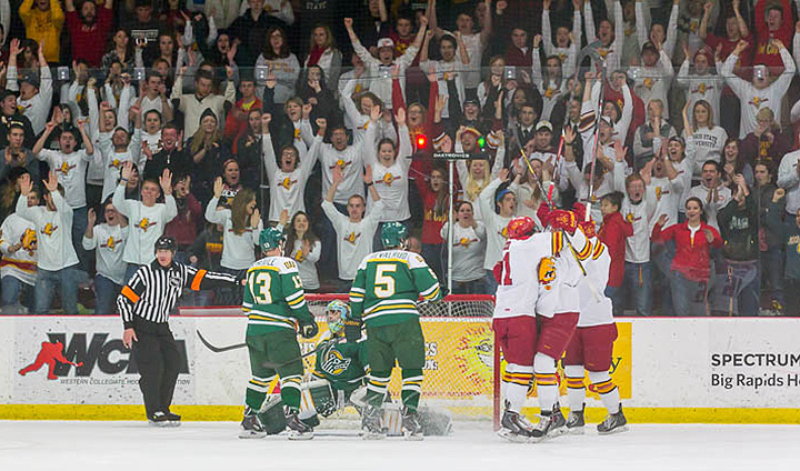 Ferris State Takes Over Sole Possession Of First Place Again In WCHA With Series-Opening Win