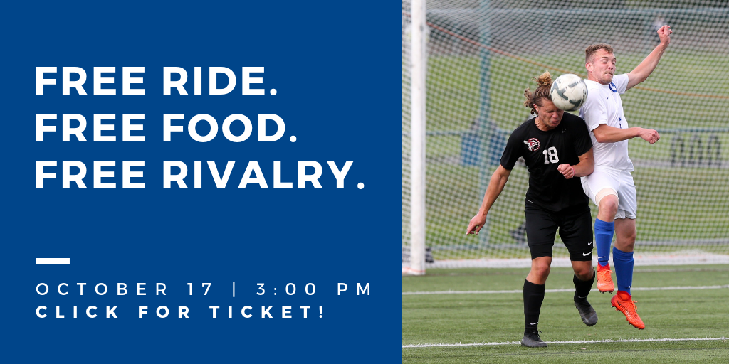 Free ride. Free Food. Free Rivalry. October 17, 3 pm. Click for ticket!