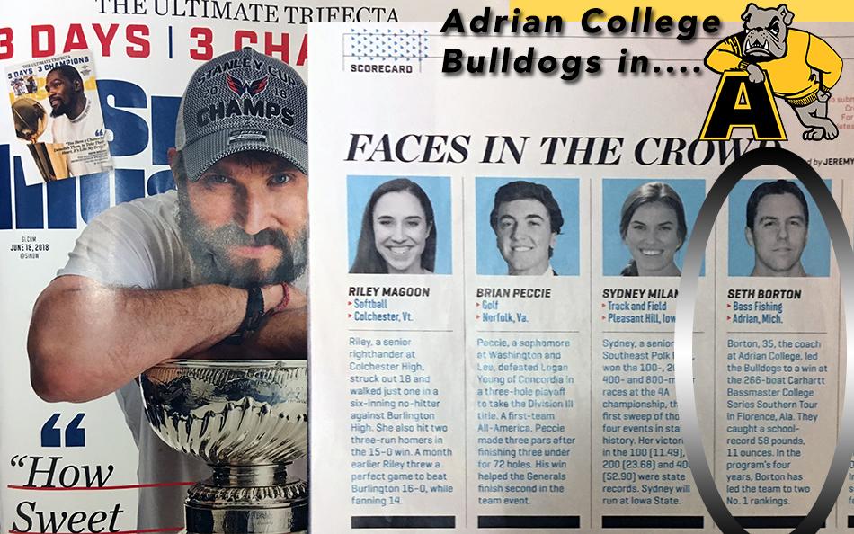 Head Coach Seth Borton Makes Debut in Famous Sports Illustrated Faces in the Crowd