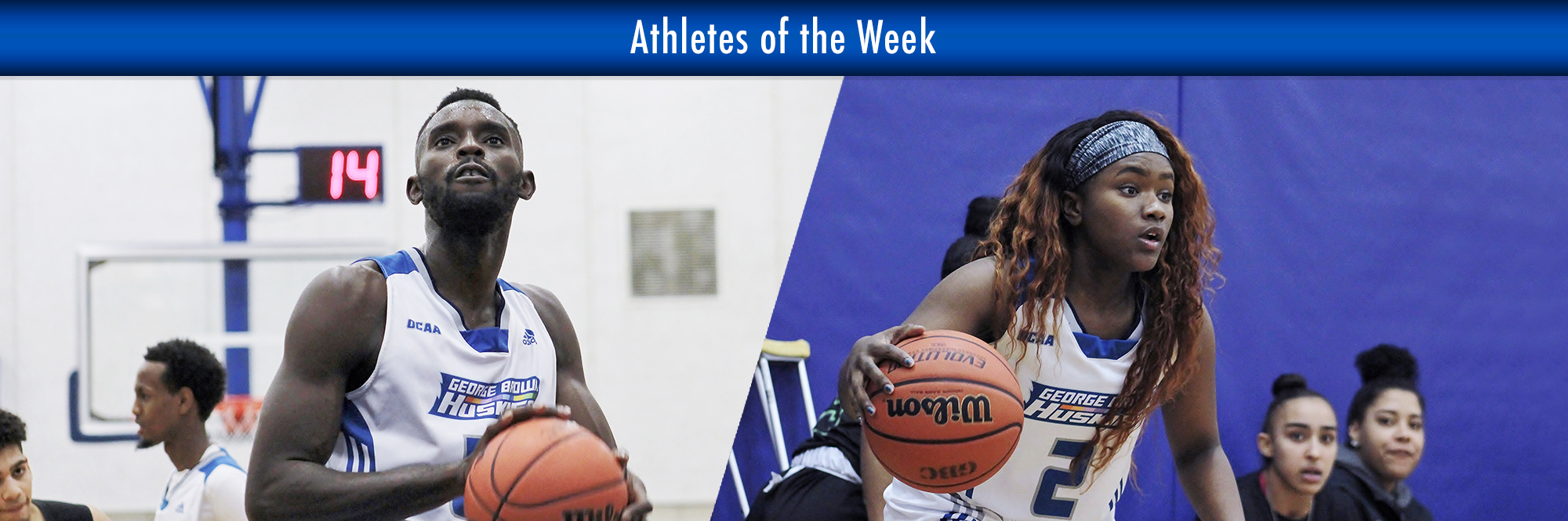 ZAE SELLERS, KINGSLEE D'SILVA NAMED HUSKIES ATHLETES OF THE WEEK