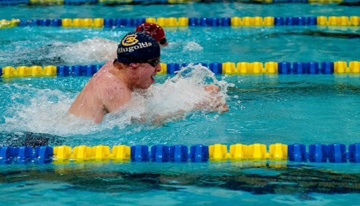 Men's Swimming & Diving Takes Fifth at Rochester Invite