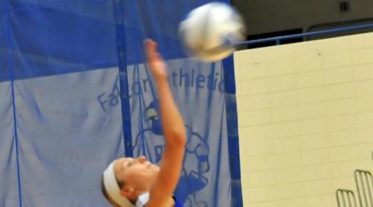 Valiant volleyball effort comes up short for Falcons